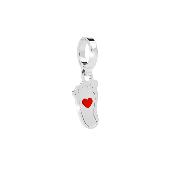 Rebecca My World Silver Footprint Charm
