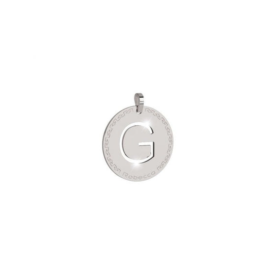 Rebecca My World Silver Large Initial Charm