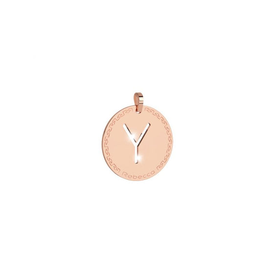 Rebecca My World Large Rose Gold Y Charm
