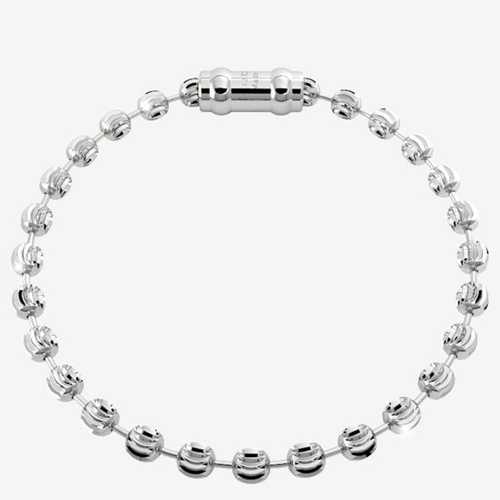 Rebecca My World Diamond Cut Silver Bracelet