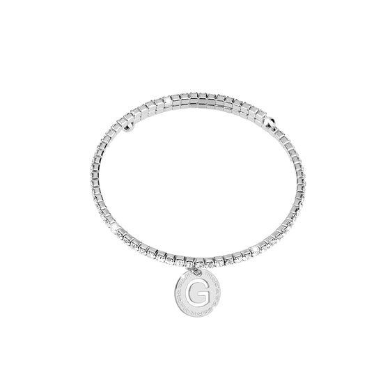 Rebecca My World Silver Glam Bangle - G
