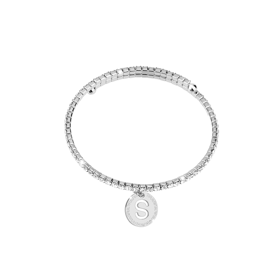 Rebecca My World Silver Glam Bangle - S