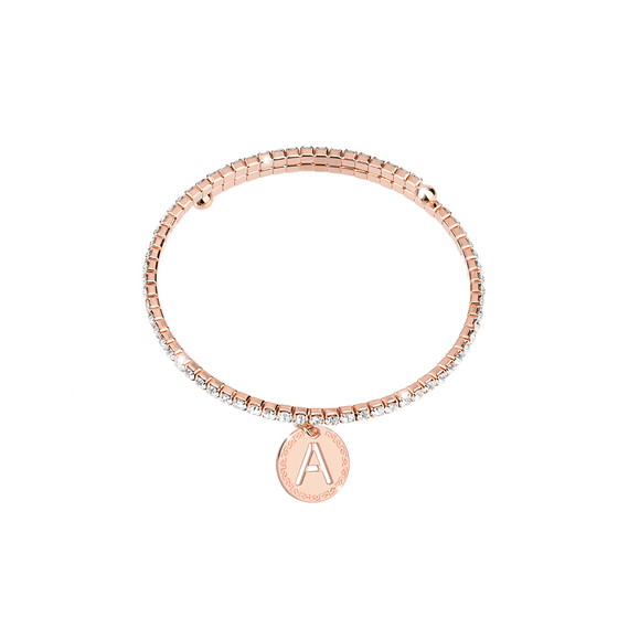 Rebecca My World Rose Gold Glam Bangle - A
