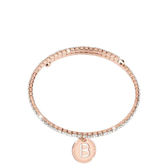 Rebecca My World Rose Gold Glam Bangle - B