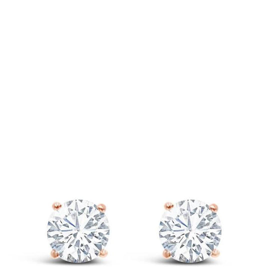 Absolute Rose Gold Diamond Stud Earring
