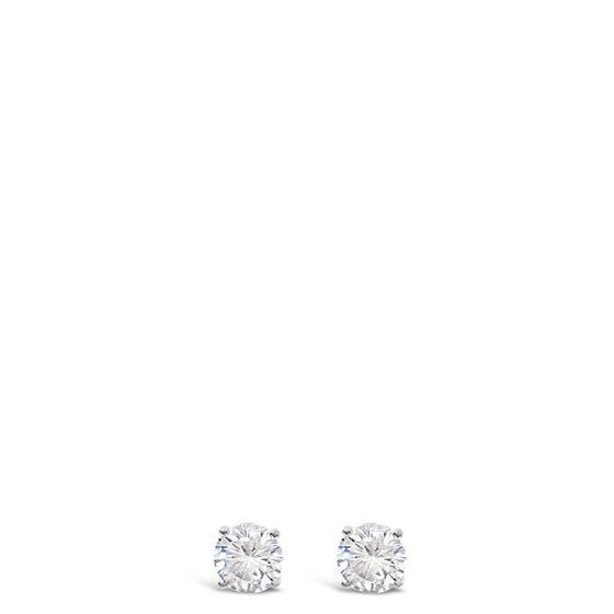 Absolute Silver Stud Earrings e036sl