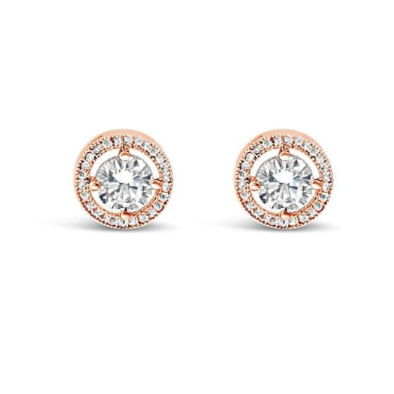 Absolute Rose Gold Stud Earrings E050Rs