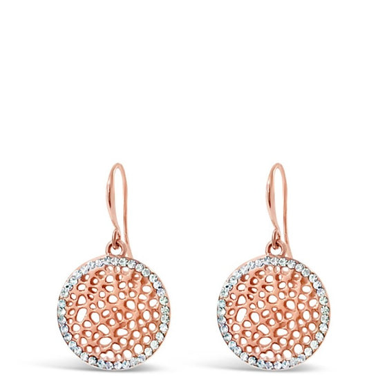 Absolute Rose Gold Circle Disc Earrings