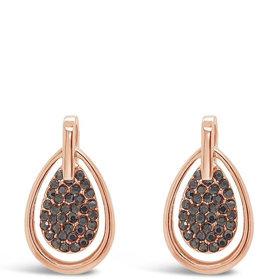 Absolute Rose Gold & Hematite Earrings