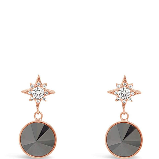 Absolute Hematite Star Earrings e2021bk