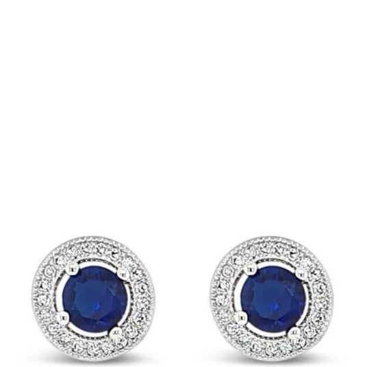 Absolute Blue Stud Earrings