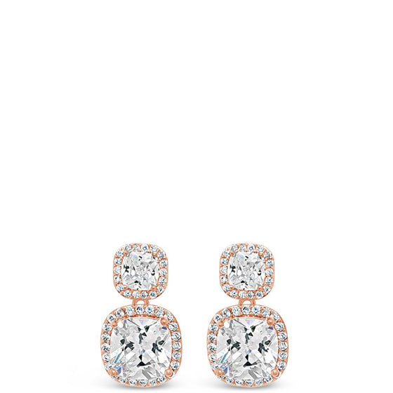 Absolute Rose Gold Drop Earrings e2038rs