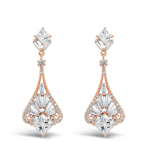 Absolute Rose Gold Drop Earrings e2051rs