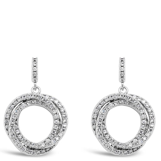 Absolute Entwined Circle Drop Earrings