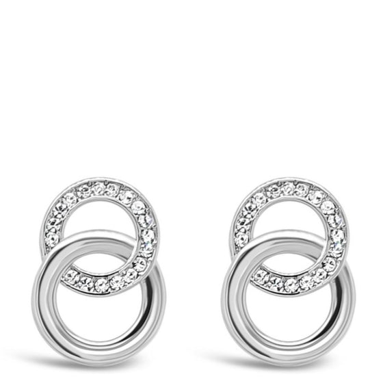 Absolute Silver Small Entwined Circle Earrings