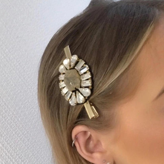 Nour Stone & Crystal Hair Slide