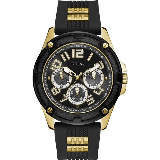 Guess Gents Delta Gold & Black Watch