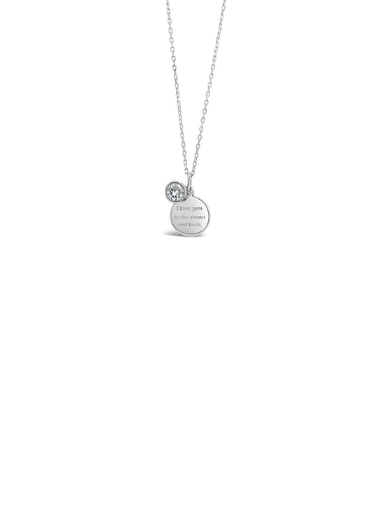 Absolute Kids Silver Disc Necklace