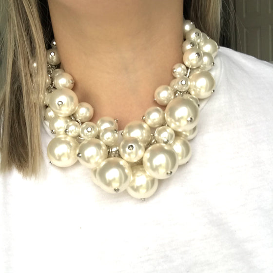 Nour Pearl Cluster Necklace