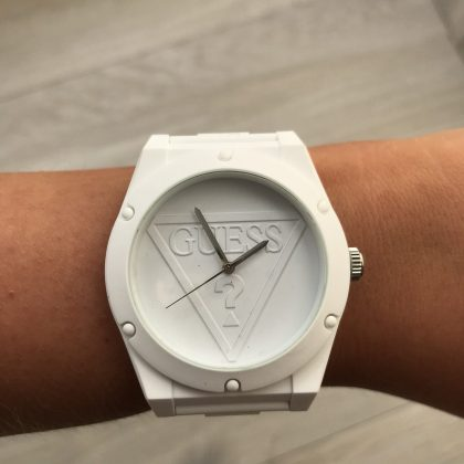 Guess White Street Watch