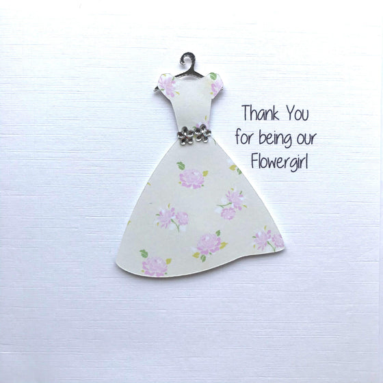 Thank You For Being Our Flower Girl Card - Floral