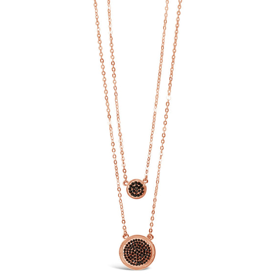 Absolute Rose Gold & Black Double Necklace n1046