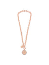 Absolute Rose Gold Circle Disc Necklace