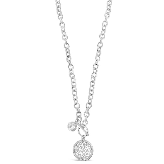 Absolute Silver Circle Disc Necklace