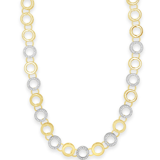 Absolute Gold & Silver Circle Necklace n2081gl