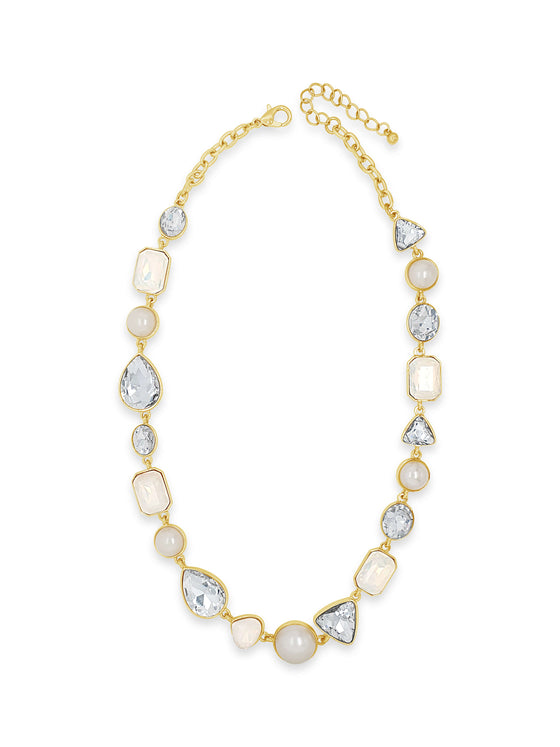 Absolute Gold & Opal Gem Stone Necklace