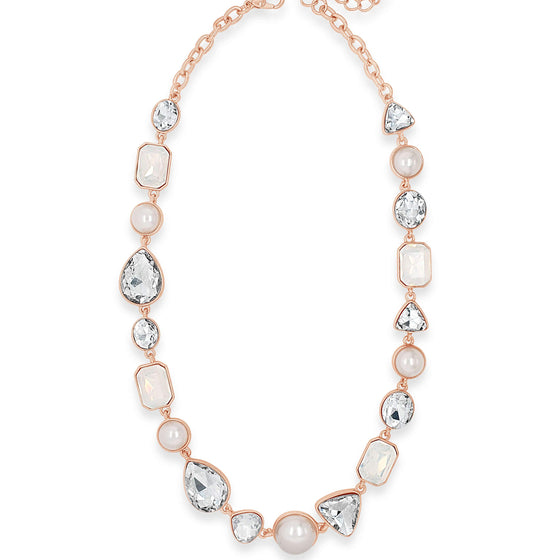Absolute Rose Gold & Pearl Necklace