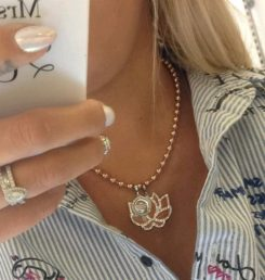 Rebecca My World Hollywood Rose Gold Charm