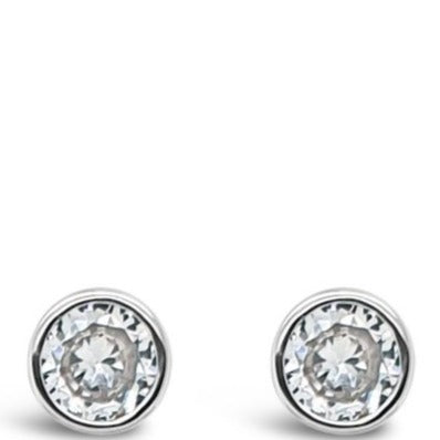 Absolute Sterling Silver Birthstone Earrings - April