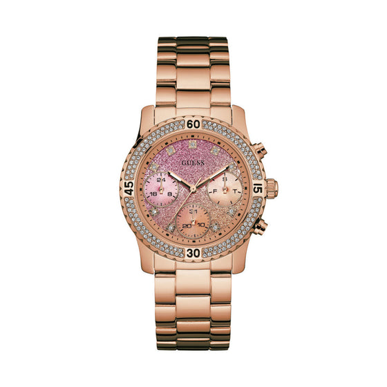Guess Confetti Rose Gold Watch