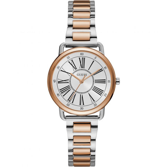 Guess Jackie Rose Gold & Silver Watch