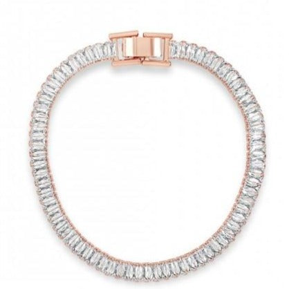 Absolute Rose Gold Baguette Crystal Bracelet
