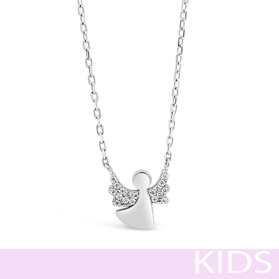 Absolute Kids Silver Angel Necklace