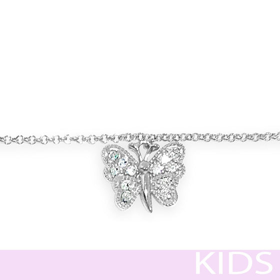Absolute Kids Silver Butterfly Bracelet