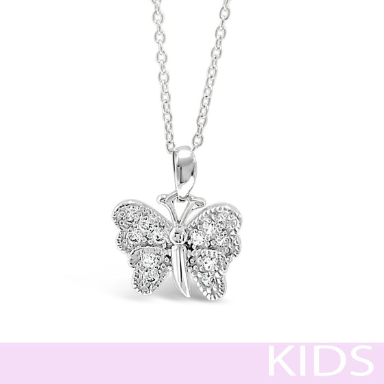 Absolute Kids Silver Butterfly Necklace