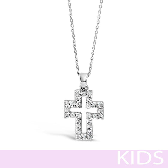 Absolute Kids Silver Cross Necklace