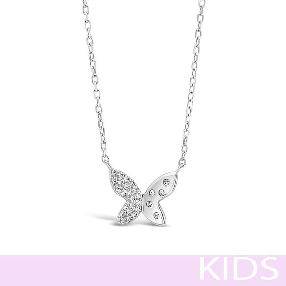 Absolute Kids Silver Small Butterfly Necklace