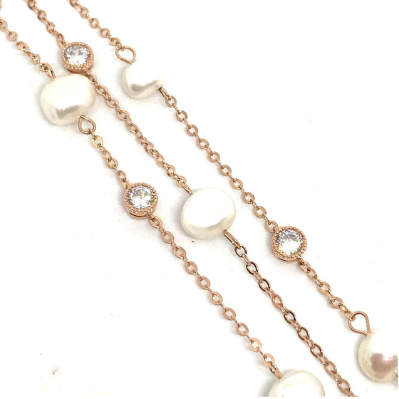 Absolute Rose Gold & Pearl Trio Bracelet