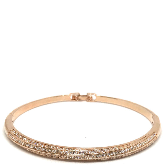 Absolute Rose Gold Twist Bangle