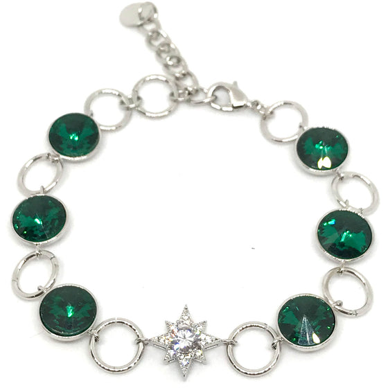 Absolute Silver & Emerald Bracelet