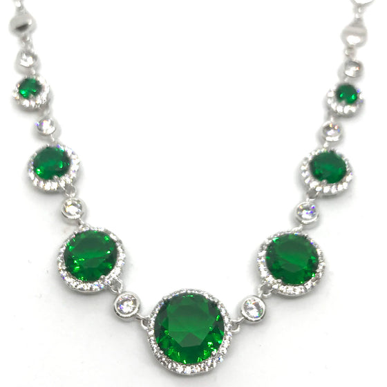 Absolute Silver & Emerald Necklace