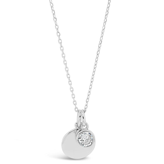 Absolute Sterling Silver Birthstone Necklace - April