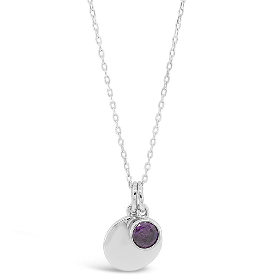 Absolute Sterling Silver Birthstone Necklace - February