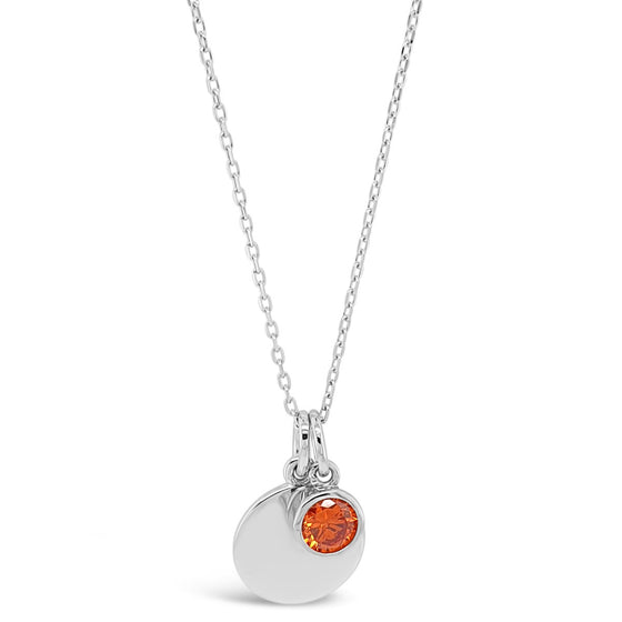 Absolute Sterling Silver Birthstone Necklace - January