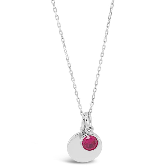 Absolute Sterling Silver Birthstone Necklace - July