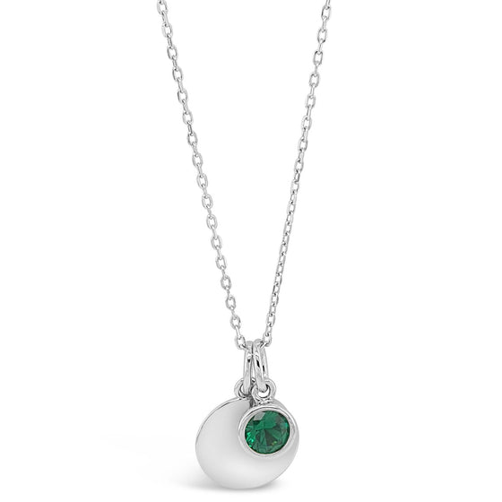 Absolute Sterling Silver Birthstone Necklace - May